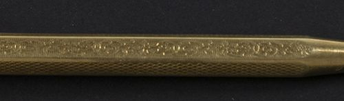 Gold jewellery and objects 14k yellow gold mechanical pencil 80 mm, 10 grams