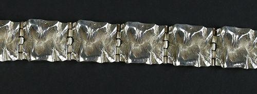 Gold jewellery and objects silver bracelet, MJH Matti J Hyvarinen Sirokoru Finla…