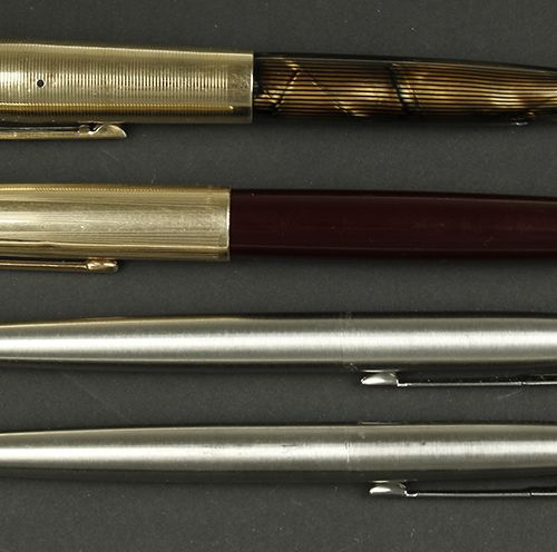 Pens A Parker fountain pen with 12ct gold filled cap and an Eversharp Skyline fo…