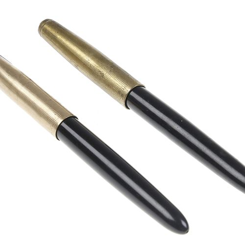 Pens Two Parker fountain pens with 12kt gold cap, USA, 1940 49