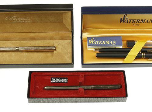 Pens St. Dupont Penne Porte twister ballpoint pen, in original case with warrant…