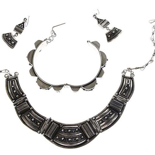 Silver jewellery Oosterse BWZG sieradenset bestaande uit: collier, armband en pa…