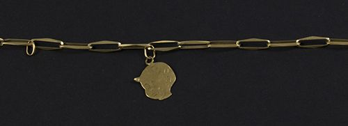 Gold jewellery and objects 14k yellow gold closed forever bracelet set with thre…