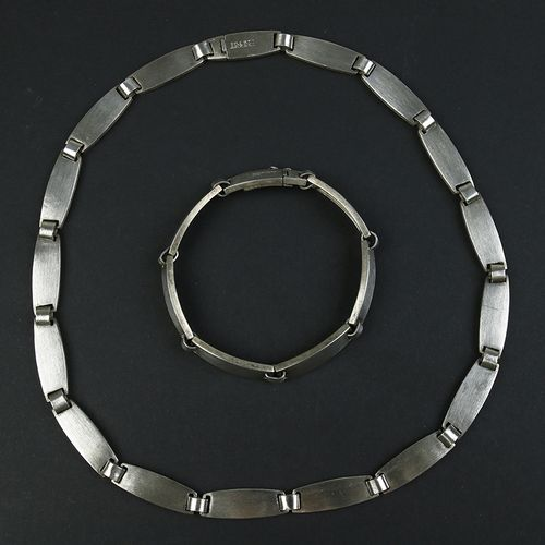 Silver jewellery Silver set consisting of a necklace and bracelet, Esprit 835/10…
