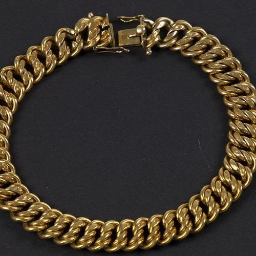 Gold jewellery and objects 18k yellow gold bracelet very worn, 19.70 grams