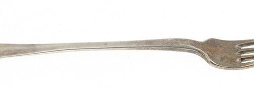 Silver objects Flatware, Netherlands Kleine 2e gehalte zilveren vork, Hollands g…