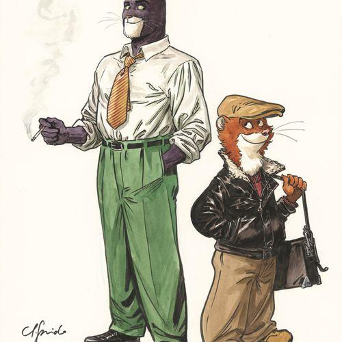 GUARNIDO JUANJO GUARNIDO  BLACKSAD, Dargaud  Illustration originale réalisée en …