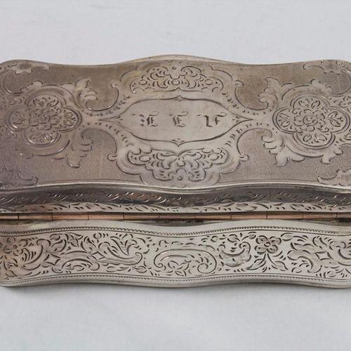Biedermeier Tabatiere / Schnupftabakdose / A silver snuffbox, Prag, um 1830 Mate…