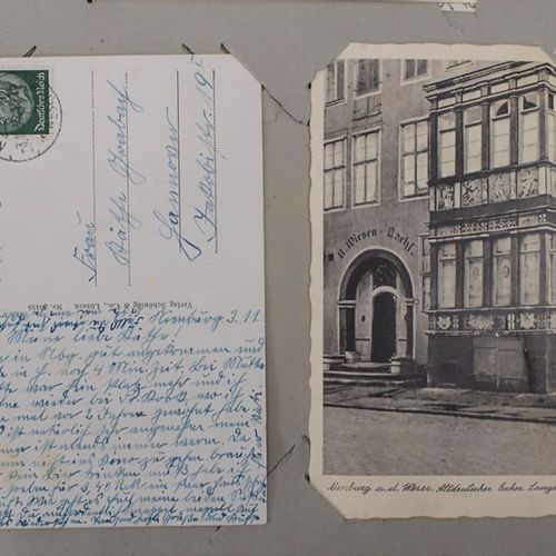 Sammlung deutscher Ansichtskarten im Album / A collection of German postcards Ex…
