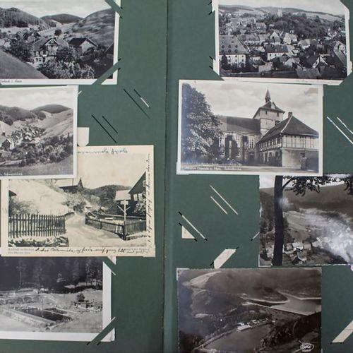 Sammlung deutscher Ansichtskarten im Album / A collection of German postcards Ex…