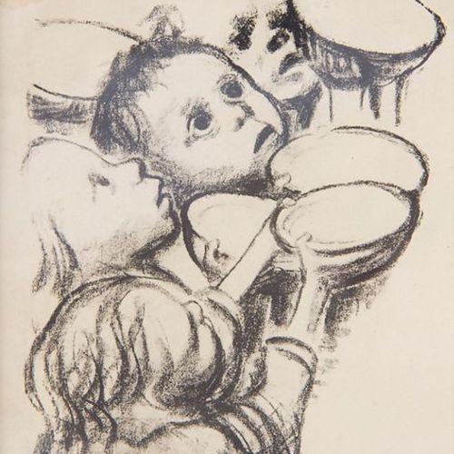 Käthe KOLLWITZ (1867 1945), 'Deutschlands Kinder hungern' Technique: Lithograph …