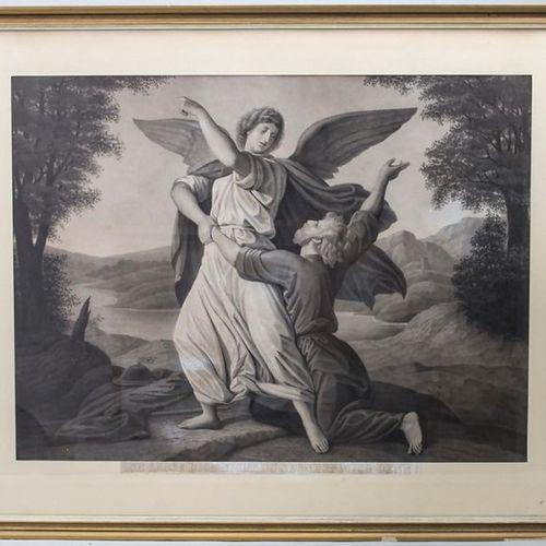 Lithografie 'Jakobs Kampf am Jabbok' / A lithograph 'Jacob's fight on the Jabbok…