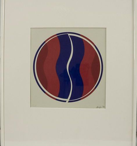 Janos FAJO (1937 2018), Farbserigraphie / Coloured serigraphy, 1972 Technique: c…