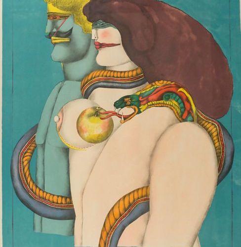 Richard LINDNER (1901 1978), 'How it all began (Adam and Eve)', 1969 Technique: …