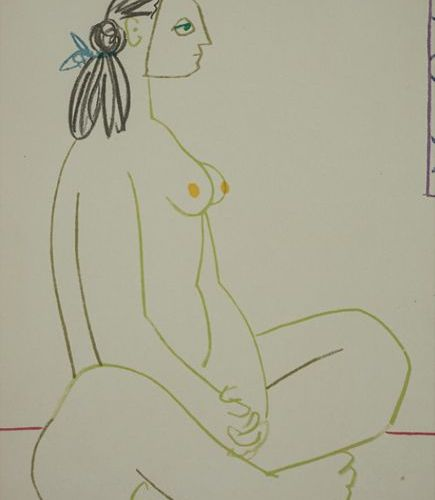 Pablo PICASSO (1881 1973), 'La comédie humaine I', 1954 Technique: Colour lithog…