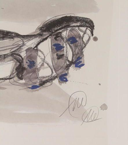 Markus Lüpertz, 'Abstrakte Figuren' / 'Abstract figures', um 2003 Technique: col…