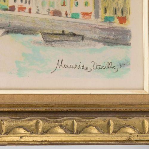 Maurice Utrillo (1883 1955), 'Stadtansicht' / 'A city view' Technique: colour li…