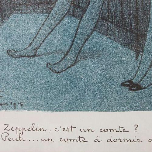 Jean Gabriel DOMERGUE (1889 1962), Blatt aus der Serie 'Nuit blanche (Le zeppeli…