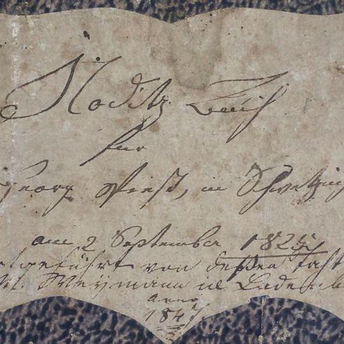 Notizbuch und Chronik, Schwetzingen und Ladenburg, 19. Jh. Handwritten notebook …