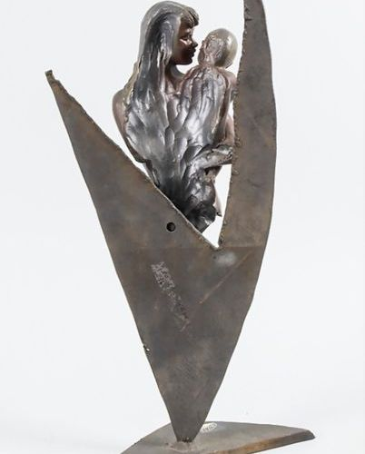 Vidal M (20. Jh.) Bronze Skulptur 'Mutterglück' / A bronze sculpture 'Mother's h…