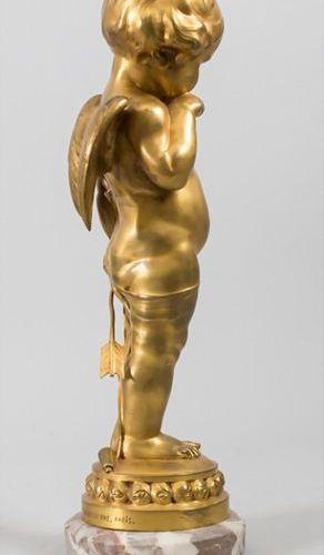 Lucienne Antoinette Heuvelmanns (1885 1944), Bronze 'Nachdenklicher Amor' / A br…