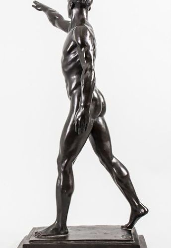Maurice Guiraud Rivière (Toulouse 1881 1947), 'Der olympische Gruß' / A bronze s…