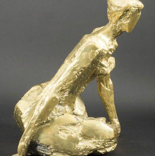 Jean Pierre Malaussena (1935 ), 'Hockende', Frankreich, um 1960 Material: bronze…