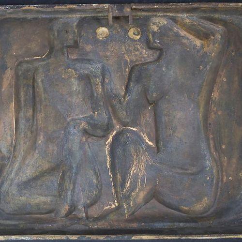 Alfred Sabisch (Dresden 1905 1986 Kalkar), Bronze Skulptur 'Nacktes Paar' / A br…