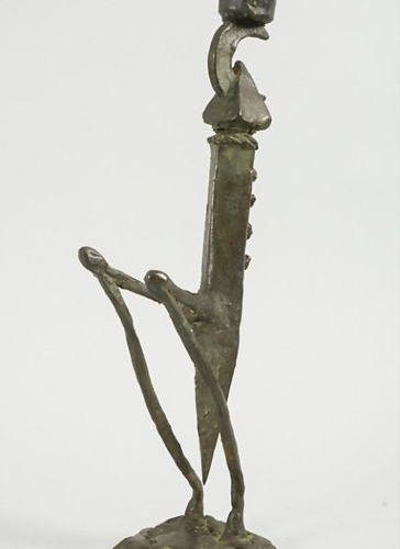 Bronze Skulptur 'Gottesanbeterin' / A bronze sculpture of a mantis, A. Höllz, 19…