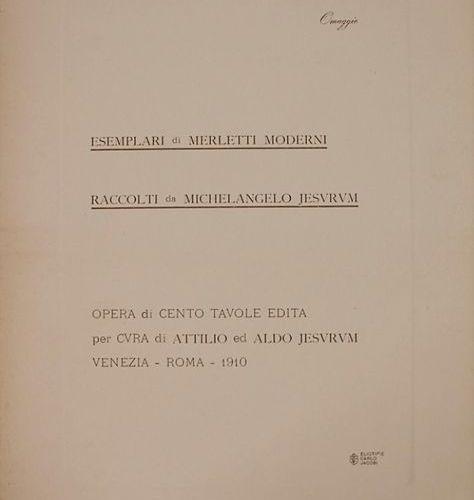 Jesurum: 'Essemplari di Merletti Moderni' (Fachbuch über Spitzen) Extent: 84 pla…