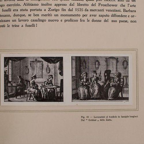 Ricci: 'Antiche Trine Italiane Trine a Fusseli' (Fachbuch für Spitzen) Extent: n…