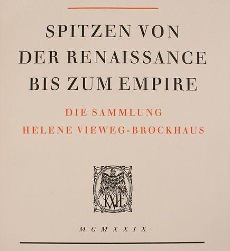 Schuette: 'Spitzen von der Renaissance bis zum Empire' Extent: 108 collotype pri…