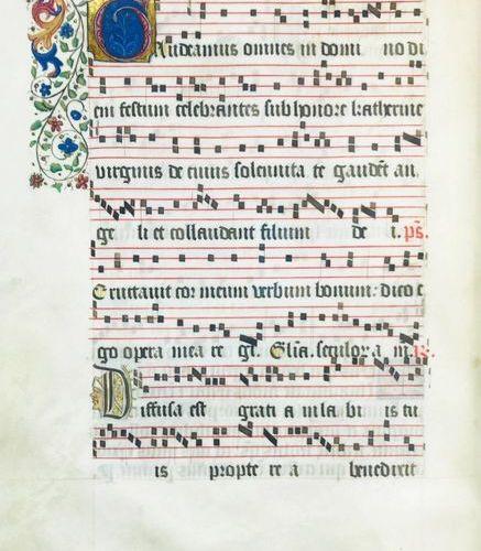 Illuminated Manuscript. Antifonario dei Vespri Domenicali della Pasqua. Antiphon…