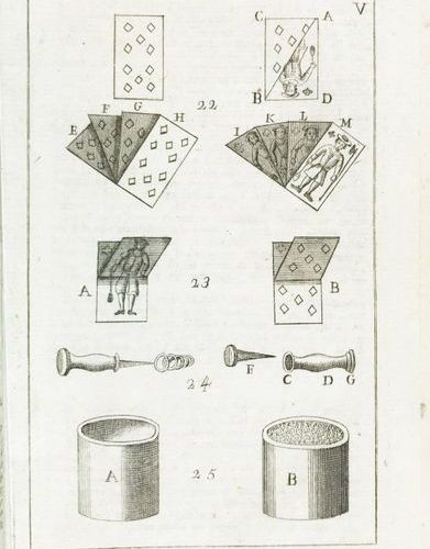 Magic Tricks. ALBERTI. I giuochi numerici 8vo. 175x115 mm. Quartel vellum bindin…