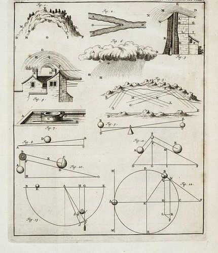 Physics. MARIOTTE. Oeuvres. 2 tomes in a vol, mm. 270x200; Contemporary full lea…