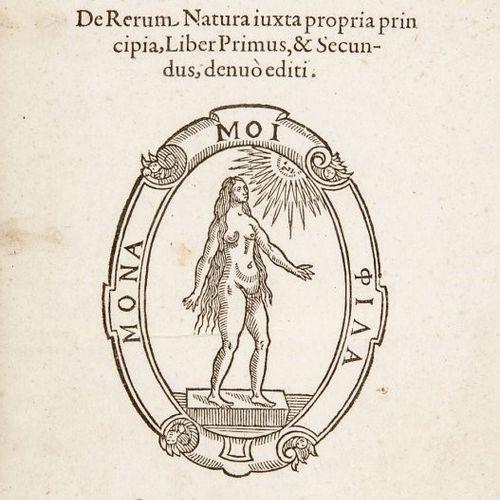 Natural Philosophy. TELESIO. De Rerum Natura iuxta propria principia. TELESIO, B…