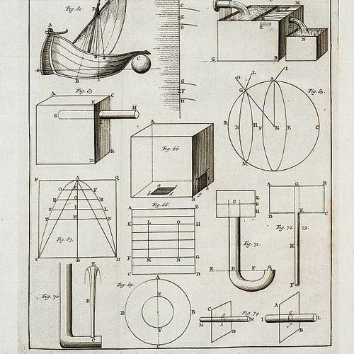 Physics. MARIOTTE. Oeuvres. MARIOTTE, Edme. Oeuvres; comprenant tous les Traitez…