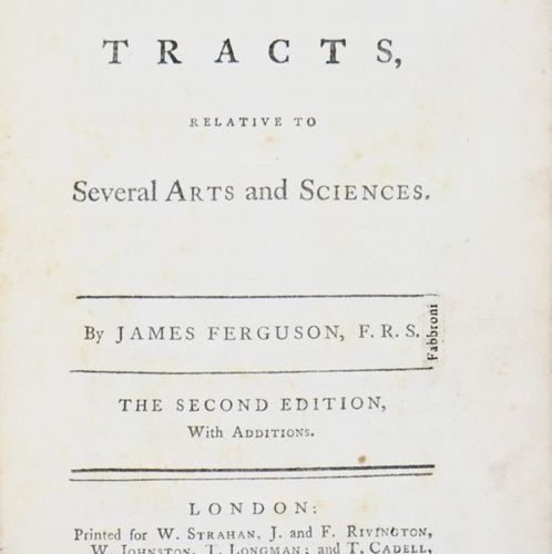 Science. FERGUSON. Tables and Tracts relative to Several Arts and Sciences. FERG…