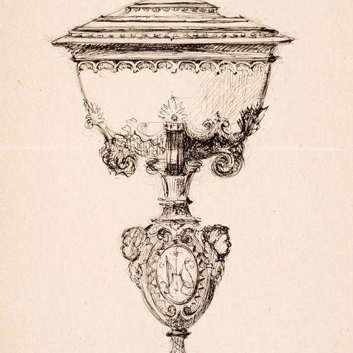 GONZALEZ. Sacred objects for the liturgy. Drawings. GONZALEZ, Concordio. Oggetti…