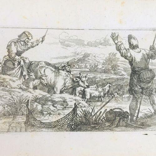 DE WAEL. Contadini e animali italiani. Varie scene di genere. Tredici incisioni.…
