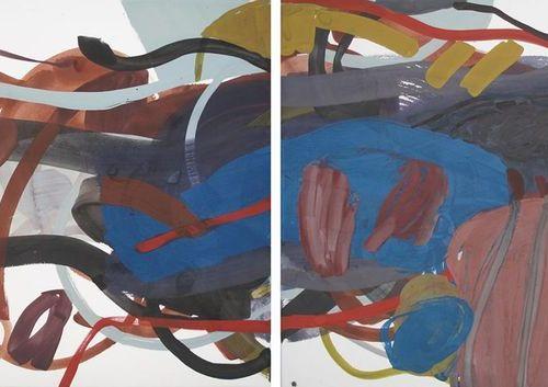 Sandra Detourbet (née en 1967) End of quote, 2013  Gouache mounted on canvas on …