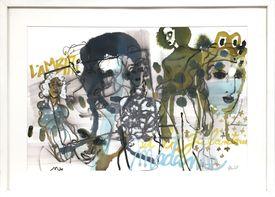Sandra Detourbet (née en 1967) Ambition and gallantry, 2016  Ink on paper  40 x …