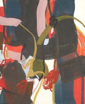 Sandra Detourbet (née en 1967) London Town, 2015  Gouache mounted on canvas on s…