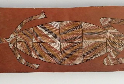 David Murruwarda (Kunwinjku)  Long Necked Turtle, 1994  David Murruwarda's long …