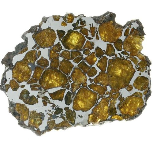 Imilac 48,95 g Meteorite from Imilac, the pallasite of the Atacama Desert on a b…