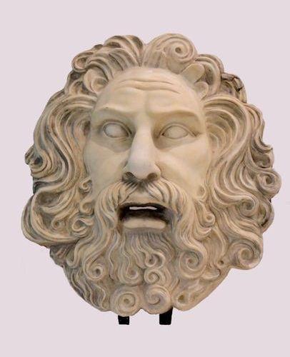 Marbre Sculpture representing ZEUS in white carrara marble  ( hair restoration )…