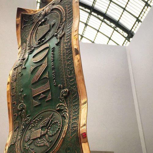 Karl LAGASSE (Né en 21981) One Dollar Bronze, 2017  Bronze sculpture with green …