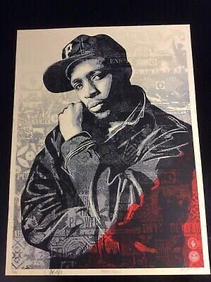 Shepard FAIREY CHUCK D BLACK STEEL (RED)  Silkscreen on thick cream paper  Editi…