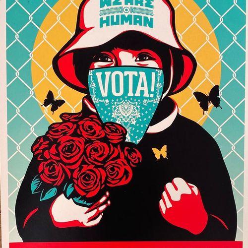 SHEPARD FAIREY X ERNESTO YERENA Obey X ERNESTO YERENA Alto al Fascismo, 2020  Se…