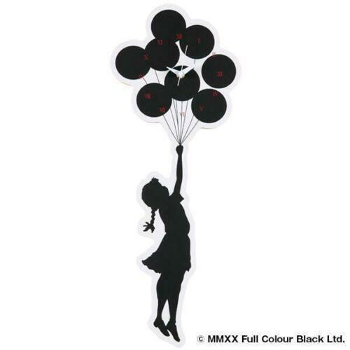 BANKSY Sync.×BRANDALISM Flying baloon girl clock  Size: H 53.5cm×W 20.7cm  Woode…